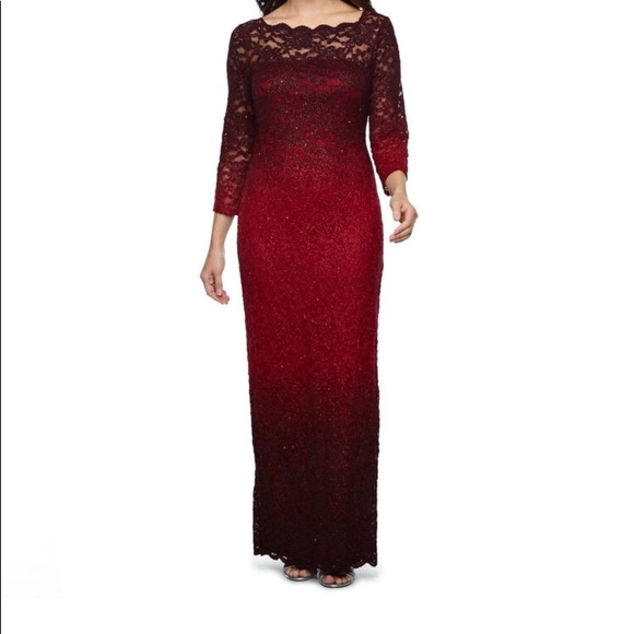 Dresses Nwt Ombr Red Glitter Formal Dress Size 8 Poshmark